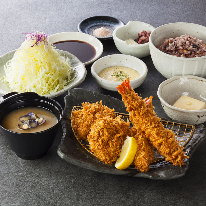 えびフライ&ヒレかつ定食 1,380円
