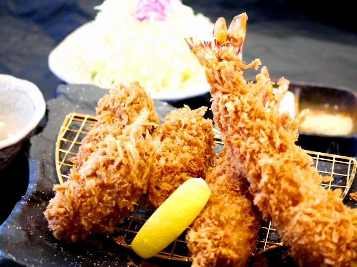 かきフライ&えびフライ定食 1,480円
